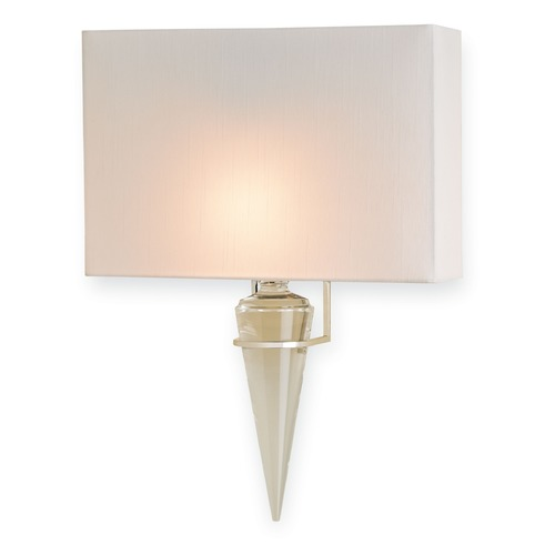 Currey and Company Lighting Currey and Company Larsen Polished Nickel Sconce 5204
