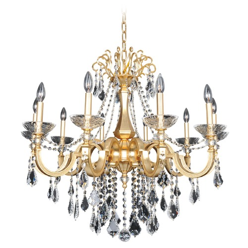 Allegri Lighting Barret 10 Light Crystal Chandelier 025452-011-FR001