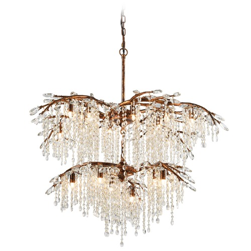 Elk Lighting Elk Lighting Elia Spanish Bronze Crystal Chandelier 11902/12+6