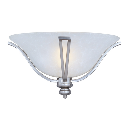 Maxim Lighting Sconce Wall Light with White Glass in Satin Silver Finish 10179ICSS