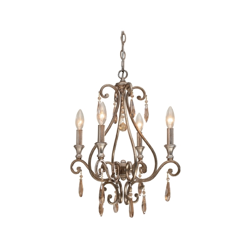 Crystorama Lighting Crystal Chandelier in Distressed Twilight Finish 7524-DT