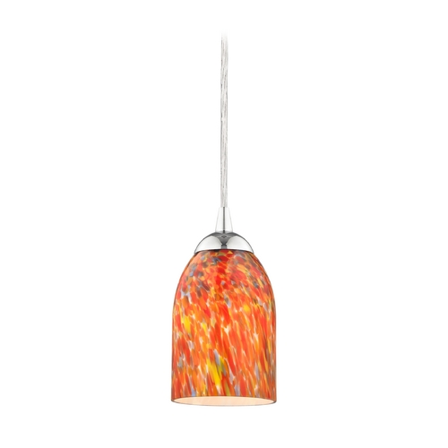 Design Classics Lighting Modern Mini-Pendant Light with Art Glass 582-26 GL1012D