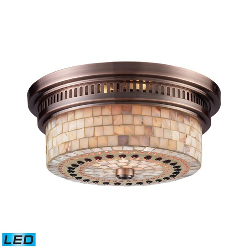 Elk Lighting Elk Lighting Chadwick Antique Copper LED Flushmount Light 66441-2-LED