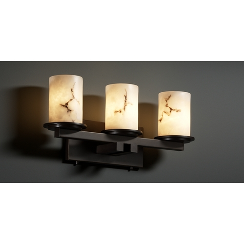 Justice Design Group Justice Design Group Lumenaria Collection Bathroom Light FAL-8773-10-DBRZ