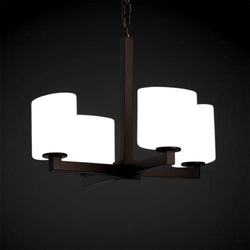 Justice Design Group Justice Design Group Fusion Collection Mini-Chandelier FSN-8829-30-RBON-DBRZ