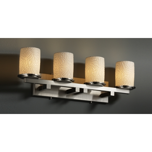 Justice Design Group Justice Design Group Limoges Collection Bathroom Light POR-8774-10-BMBO-NCKL