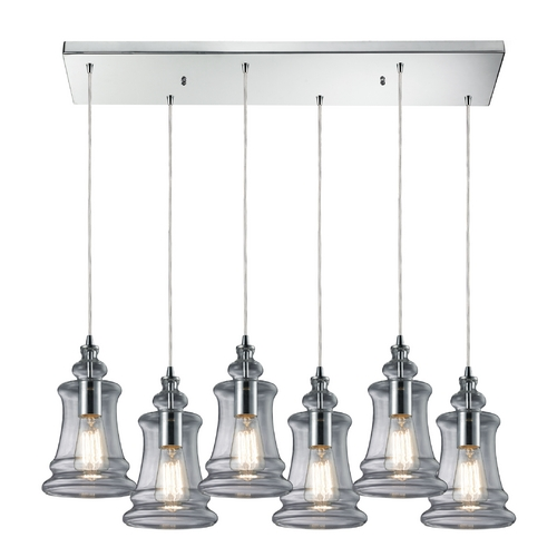 Elk Lighting Multi-Light Pendant Light with Clear Glass and 6-Lights 60052-6RC