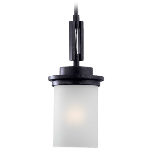 Sea Gull Lighting Sea Gull Lighting Winnetka Blacksmith Mini-Pendant Light with Cylindrical Shade 61660BLE-839