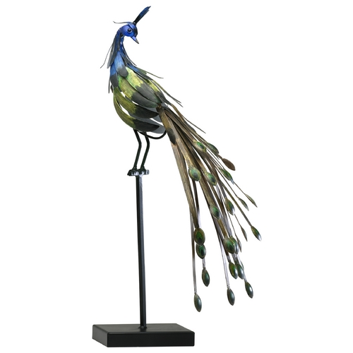 Cyan Design Cyan Design Peacock Multi Colored Sculpture 02826