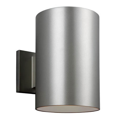 Sea Gull Lighting Sea Gull Lighting Outdoor Bullets Painted Brushed Nickel Outdoor Wall Light 8313901-753