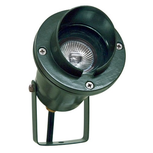 Dabmar Lighting Green Cast Aluminum Directional Spot Light with Hood LV109-G