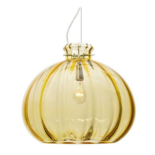 Besa Lighting Besa Lighting Pinta Satin Nickel Pendant Light with Globe Shade 1KX-4645GD-SN