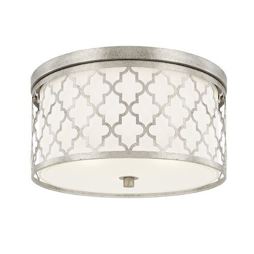 Capital Lighting Capital Lighting Ellis Antique Silver Flushmount Light 4549AS