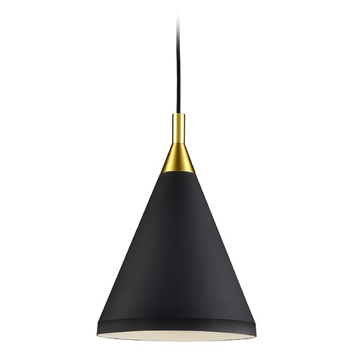 Kuzco Lighting Kuzco Lighting Dorothy Black / Gold Pendant Light with Conical Shade 492710-BK/GD