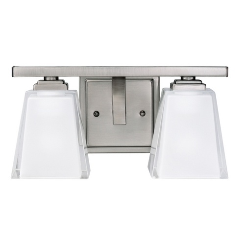 Kichler Lighting Kichler Modern Bathroom Light with White Glass in Pewter Finish 5460AP