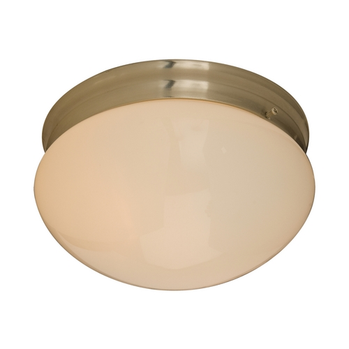 Maxim Lighting Flushmount Light with Beige / Cream Glass in Satin Nickel Finish 5881WTSN