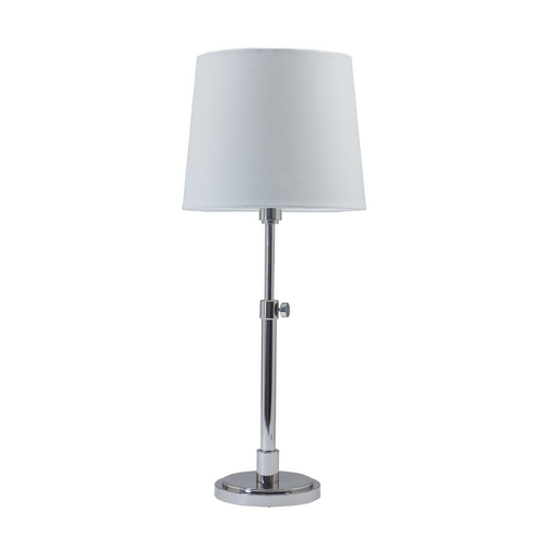 House of Troy Lighting Table Lamp with White Shade in Polished Nickel Finish TH750-PN