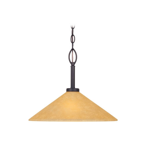Designers Fountain Lighting Modern Pendant Light with Beige / Cream Glass in Oil Rubbed Bronze Finish 83532-ORB