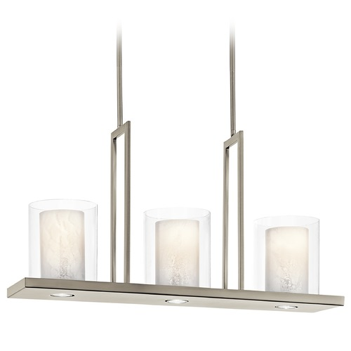 Kichler Lighting Kichler Modern Island Light with Clear Glass in Classic Pewter Finish 42547CLP