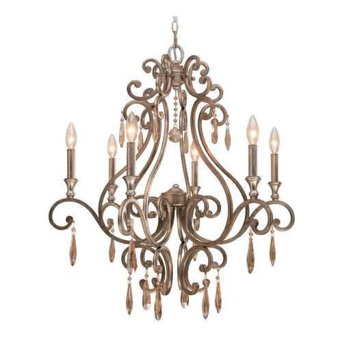 Crystorama Lighting Crystal Chandelier in Distressed Twilight Finish 7526-DT