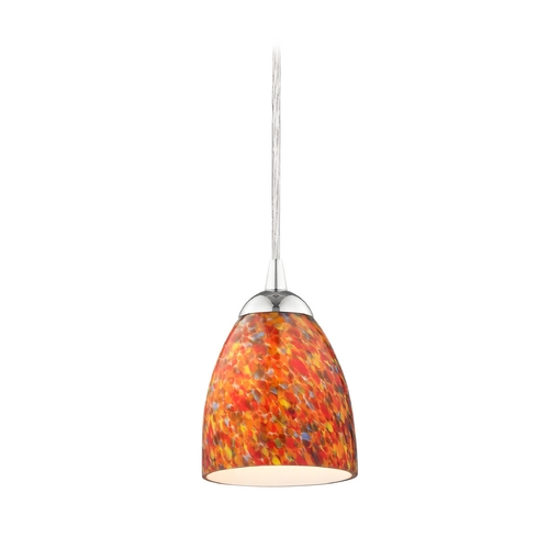 Design Classics Lighting Modern Mini-Pendant Light with Art Glass 582-26 GL1012MB