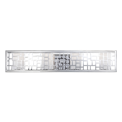 Designers Fountain Lighting Modern Bathroom Light with White Glass in Chrome Finish 6724-CH