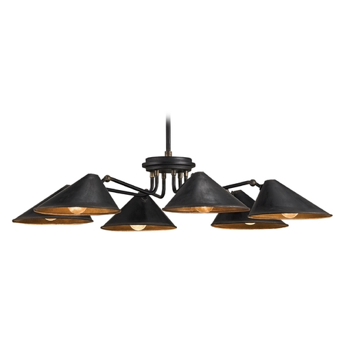 Currey and Company Lighting Currey and Company Lighting Black Smith Pendant Light with Coolie Shade 9308