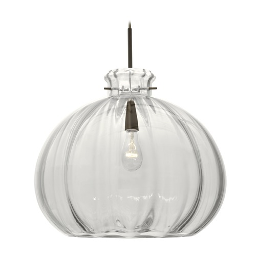 Besa Lighting Besa Lighting Pinta Bronze Pendant Light with Bowl / Dome Shade 1JT-464588-BR