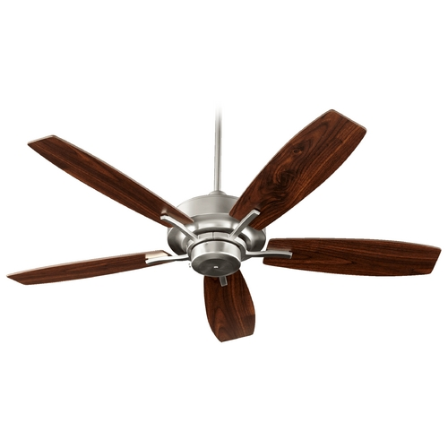 Quorum Lighting Quorum Lighting Soho Satin Nickel Ceiling Fan Without Light 64525-65