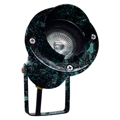 Dabmar Lighting Verde Green Cast Aluminum Directional Spot Light with Hood LV109-VG