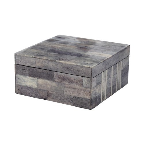 Dimond Home Gray And White Bone Boxes - Large 903008