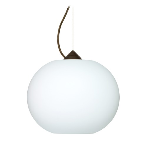Besa Lighting Besa Lighting Luna Bronze LED Pendant Light with Globe Shade 1KX-477607-LED-BR