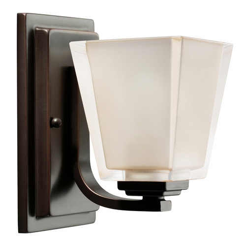 Kichler Lighting Kichler Modern Sconce with Grey Glass in Olde Bronze Finish 5459OZ