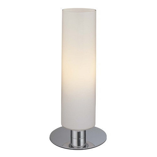 George Kovacs Lighting Modern Table Lamp with White Glass in Chrome Finish P661-077