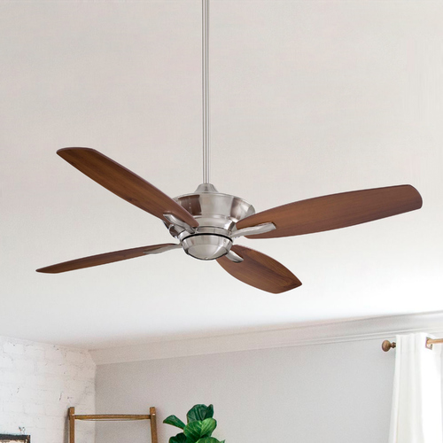 Minka Aire 52-Inch Ceiling Fan Without Light in Brushed Nickel Finish F513-BN