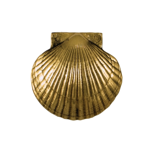 Michael Healy Sea Scallop Door Knocker in Brass Finish MH1071