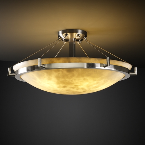 Justice Design Group Justice Design Group Clouds Collection Semi-Flushmount Light CLD-9682-35-NCKL