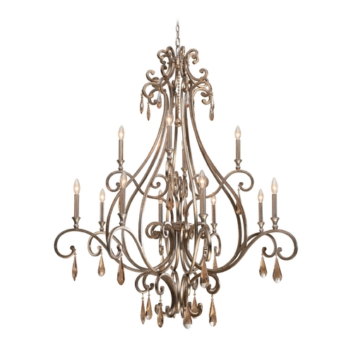 Crystorama Lighting Crystal Chandelier in Distressed Twilight Finish 7520-DT