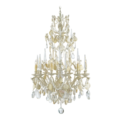 Currey and Company Lighting Chandelier in Natural Finish 9162
