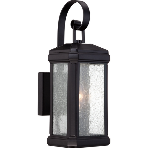 Quoizel Lighting Quoizel Trumbull Mystic Black Outdoor Wall Light TML8405K