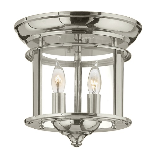 Hinkley Lighting Hinkley Lighting Gentry Polished Nickel Flushmount Light 3472PN