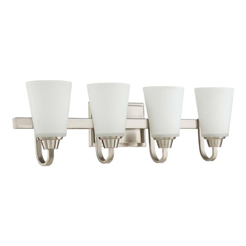 Craftmade Lighting Craftmade Lighting Grace Brushed Polished Nickel Bathroom Light 41904-BNK