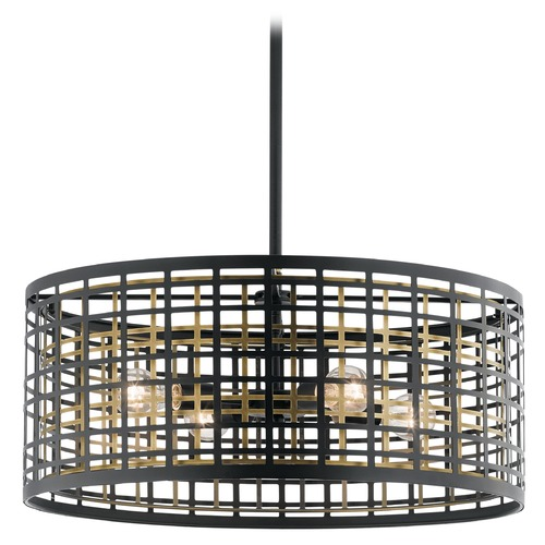 Kichler Lighting Pendant Light Black Aldergate by Kichler Lighting 44076BK