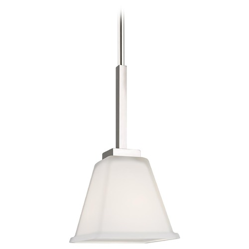 Sea Gull Lighting Sea Gull Lighting Ellis Harper Brushed Nickel Pendant Light with Square Shade 6113701-962