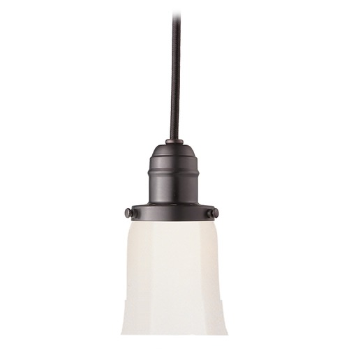Hudson Valley Lighting Mini-Pendant Light with White Glass 3102-OB-119