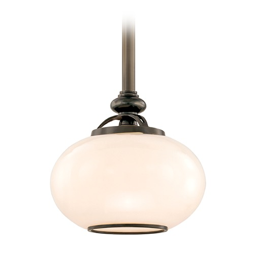 Hudson Valley Lighting Mini-Pendant Light with White Glass 9809-OB