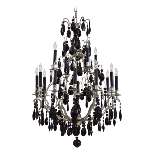 Metropolitan Lighting Crystal Chandelier in Polished Nickel Finish N9033