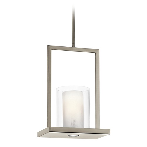Kichler Lighting Kichler Modern Mini-Pendant with Clear Glass in Classic Pewter Finish 42549CLP