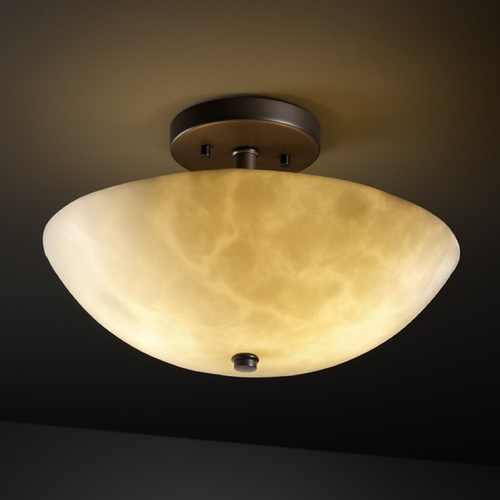 Justice Design Group Justice Design Group Clouds Collection Semi-Flushmount Light CLD-9690-35-DBRZ