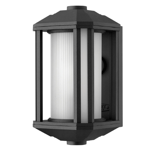Hinkley Lighting Outdoor Wall Light with White Glass in Black Finish 1396BK-GU24